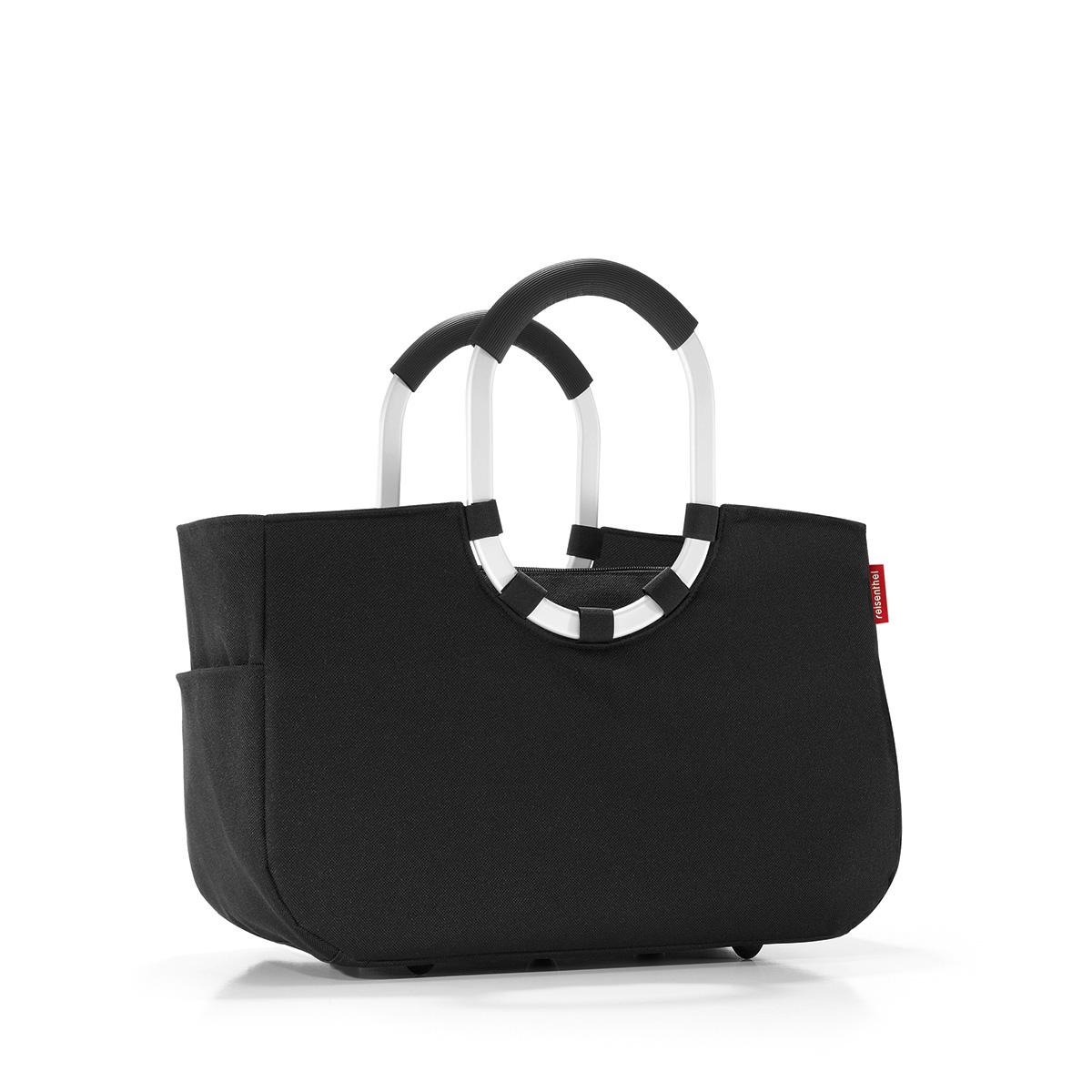 Сумка женская Reisenthel Loopshopper M, цвет: черный. OS7003S76245Универсальная женская сумка Reisenthel Loopshopper M изготовлена из плотного полиэстера и оформлена оригинальными металлическими ручками овальной формы.Сумка содержит одно вместительное отделение, внутри которого расположен врезной карман на застежке-молнии и съемный карман-средник на молнии. Снаружи карман-средник дополнен врезным карманом на молнии и накладным кармашком для телефона. Карман-средник фиксируется в основном отделении сумки на два хлястика с кнопками, также может использоваться как самостоятельный аксессуар. Снаружи сумка оснащена двумя накладными карманами, расположенными по бокам изделия. Овальные ручки дополнены специальным покрытием, которое обеспечит максимальный комфорт при эксплуатации изделия. Дно сумки дополнено пластиковыми ножками.Практичная сумка станет незаменимым аксессуаром для повседневного использования.