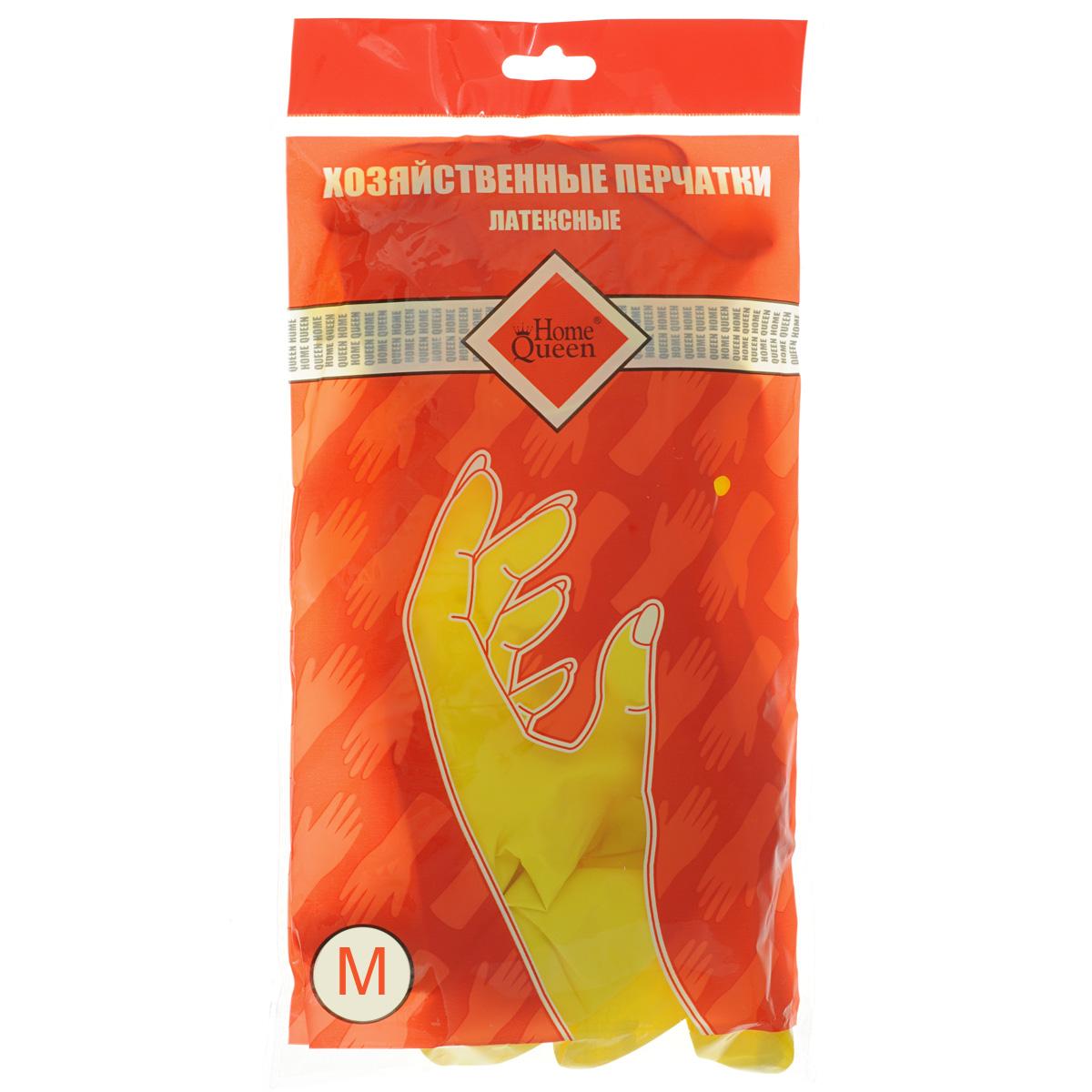 Перчатки латексные Home Queen. Размер MVCA-00Перчатки Home Queen, изготовленные из латекса, защитят ваши руки от воздействия бытовой химии и грязи. Подойдут для всех видов хозяйственных работ.