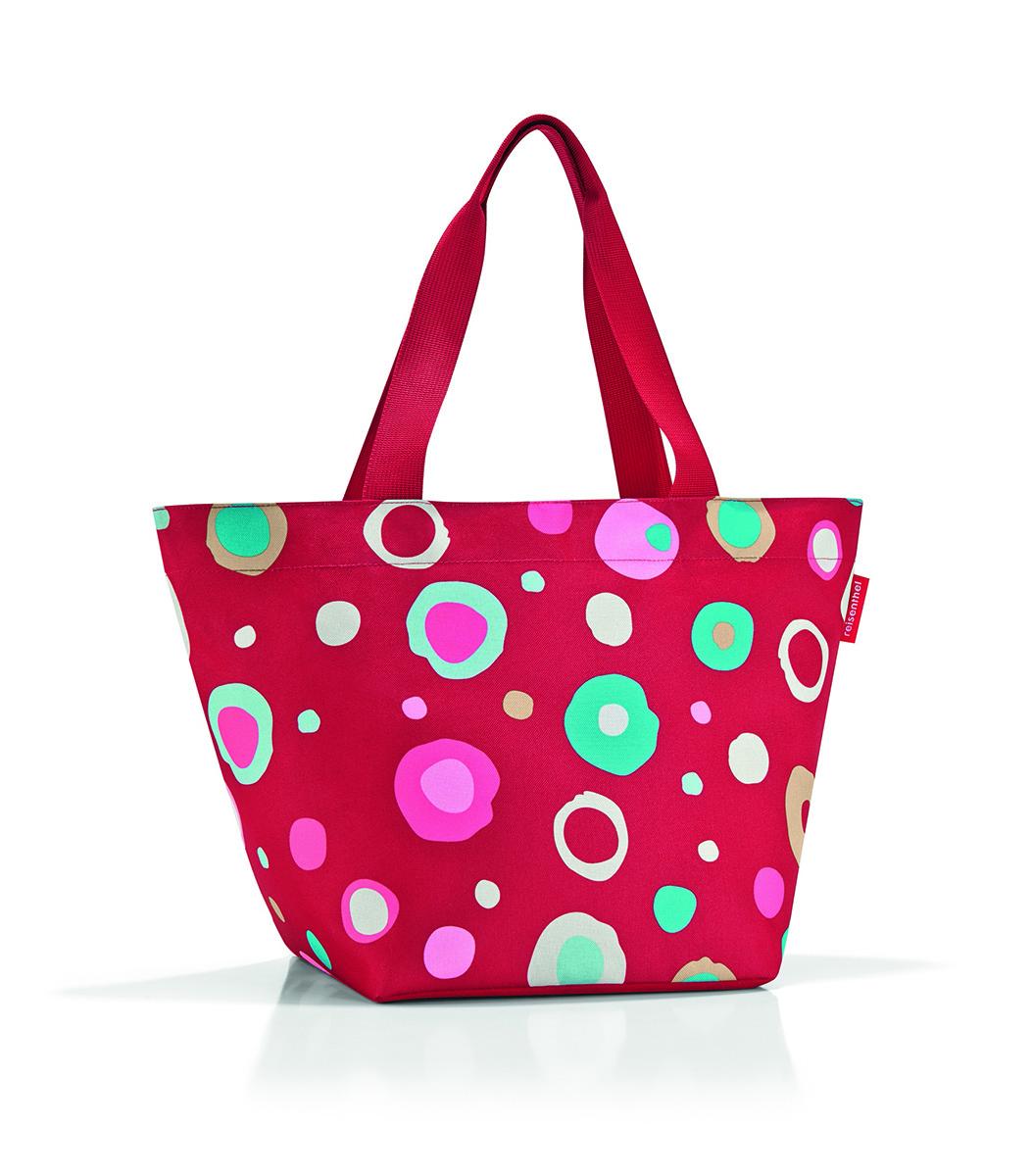 Сумка женская Reisenthel Shopper M, цвет: красный. ZS304823008Универсальная женская сумка Reisenthel Shopper M изготовлена из плотного полиэстера и оформлена ярким принтом.Сумка содержит одно вместительное отделение, закрывающееся на застежку-молнию. Внутри расположен нашивной карман на молнии. Изделие дополнено двумя практичными широкими ручками, которые позволят носить сумку, как в руках, так и на плече.Практичная сумка станет незаменимым аксессуаром для повседневного использования.