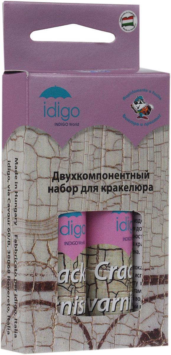"""Набор лаков для кракелюра """"Idigo"""" используется для обработки стеклянных, деревянных и керамических поверхностей. Кракелюрные лаки бесцветны поэтому цвет поверхности не меняется, а лишь покрывается трещинами, приобретая состаренный вид. Лаки наносятся последовательно, для получения эффекта каждый слой должен полностью высохнуть. В набор входят два тюбика с лаками. Беречь от замерзания."""