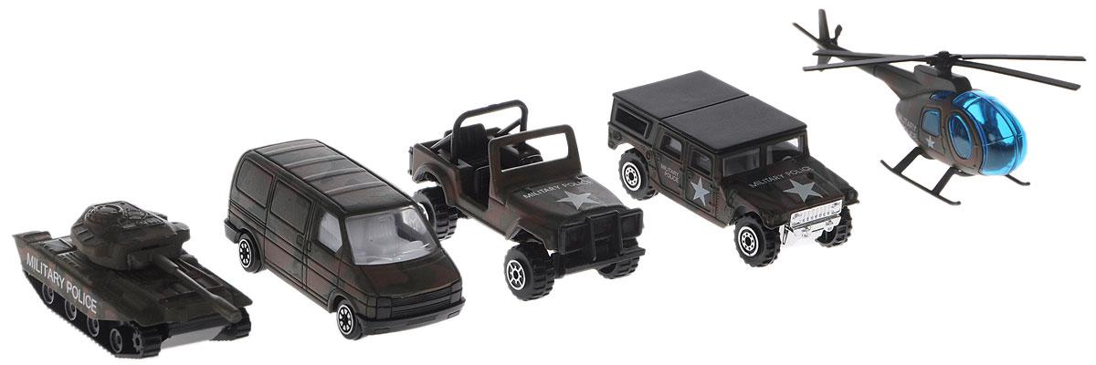 Welly Игровой набор Военно-полицейская команда 5 предметов цвет хаки машинки welly игровой набор пожарная команда 5 шт
