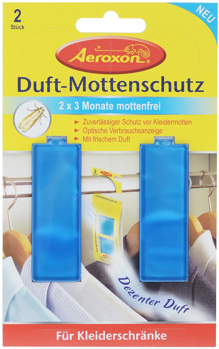 Душистая подвеска с гелем для защиты от моли Aeroxon, 2 шт03.19.10.3002Подвеска Aeroxon - это надежная защита от одежной моли. Обладает приятным ароматом, а также является готовой к применения смесью действующих веществ.Комплектация: 2 шт.Объем 1 подвески: 5 мл.