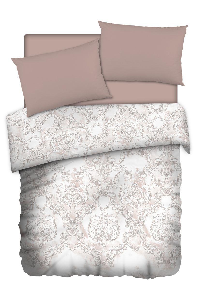 Комплект белья Carte Blanshe Vintage beige, 2-спальный, наволочки 50x70, цвет: коричневый. 3334686200ПКоллекция эксклюзивного постельного белья, созданная итальянскими дизайнерами прекрасногостаринного городка Италии — Riva del Gard. Постельное белье выполнено из великолепной ткани премиум — класса «Percale Soft Touch». Эта ткань произведена из 100% натурального хлопкаимеет специальную обработку «Wise Silk», которая придает дополнительную гладкость и шелковистость ткани. Благодаря специальной обработке ткань более приятная на ощупь, практически не мнется.
