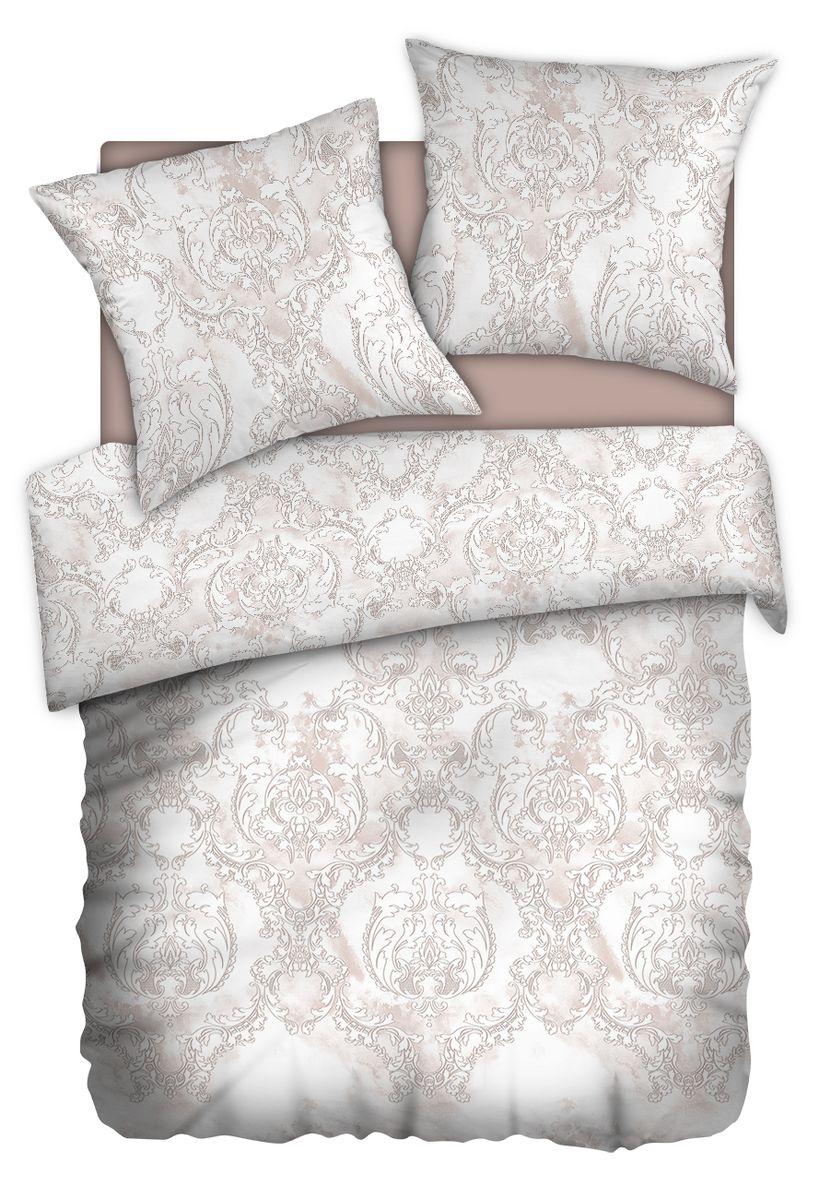 Комплект белья Carte Blanshe Vintage beige, 1,5 спальное, наволочки 70x70, цвет: коричневый. 333459CLP446Коллекция эксклюзивного постельного белья, созданная итальянскими дизайнерами прекрасногостаринного городка Италии — Riva del Gard. Постельное белье выполнено из великолепной ткани премиум — класса «Percale Soft Touch». Эта ткань произведена из 100% натурального хлопкаимеет специальную обработку «Wise Silk», которая придает дополнительную гладкость и шелковистость ткани. Благодаря специальной обработке ткань более приятная на ощупь, практически не мнется.