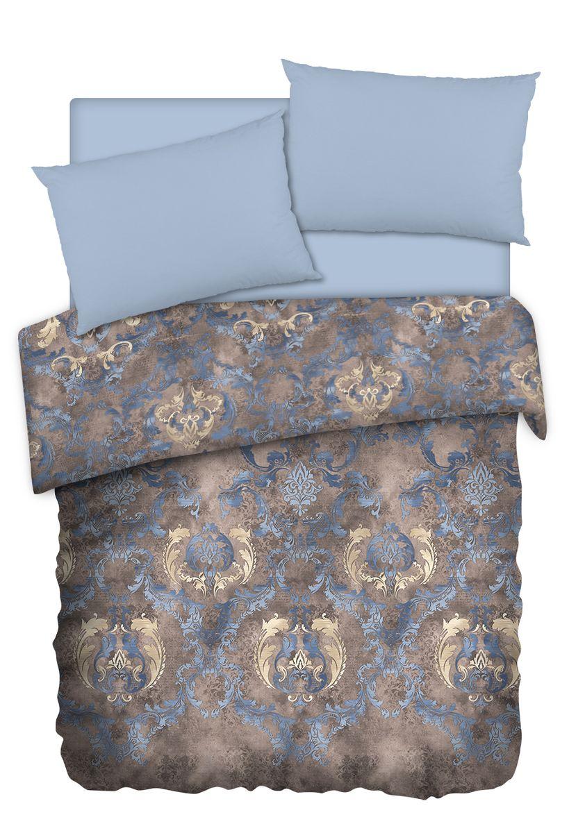Комплект белья Carte Blanshe Vintage, евро, наволочки 50x70, цвет: коричневый. 3335144220ПКоллекция эксклюзивного постельного белья, созданная итальянскими дизайнерами прекрасногостаринного городка Италии — Riva del Gard. Постельное белье выполнено из великолепной ткани премиум — класса «Percale Soft Touch». Эта ткань произведена из 100% натурального хлопкаимеет специальную обработку «Wise Silk», которая придает дополнительную гладкость и шелковистость ткани. Благодаря специальной обработке ткань более приятная на ощупь, практически не мнется.