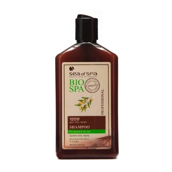 Sea of Spa Шампунь для норм/сухих волос с маслом Жожоба и Оливы, 400 млFS-00897- масла увлажняют волосы, восстанавливая их по всей длине, при этом не утяжеляют и сохраняют прикорневой объем;- укрепляет структуру волос внутри и снаружи, придавая им мягкость, шелковистость и удивительную гладкость;- ромашка и алоэ освежают кожу головы, смывают перхоть и препятствует её появлению;- дает эффект гладких и послушных волос без спутывания, сухие кончики больше не выбиваются из прически. - облегчает укладку.