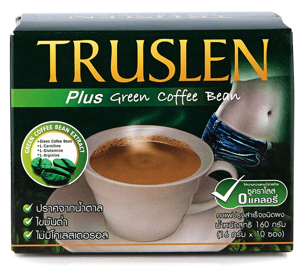 Truslen Plus Green Coffee Bean кофейный напиток в пакетиках, 10 шт8002650002245Полезный, быстрорастворимый напиток Truslen Plus Green Coffee Bean, позволяющий контролировать массу тела. Не содержит сахара, консервантов, стабилизаторов, красителей и эмульгаторов.Двойной эффект: не обжаренные зеленые кофейные зерна уменьшают стресс, обжаренные - тонизируют. Содержит комплекс аминокислот, оказывающих общеукрепляющее и тонизирующее действие. Позволяет контролировать массу тела за счет содержания Л-карнитина.