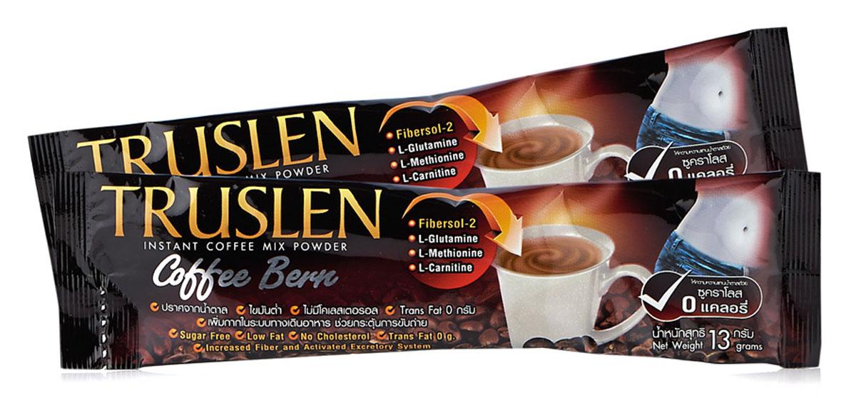 Truslen Coffee Bern кофейный напиток, 7 шт1471Полезный, быстрорастворимый напиток Truslen Coffee Bern, позволяющий контролировать массу тела. Не содержит сахара, консервантов, стабилизаторов, красителей и эмульгаторов. Входящие в состав компоненты способствуют сжиганию жира.