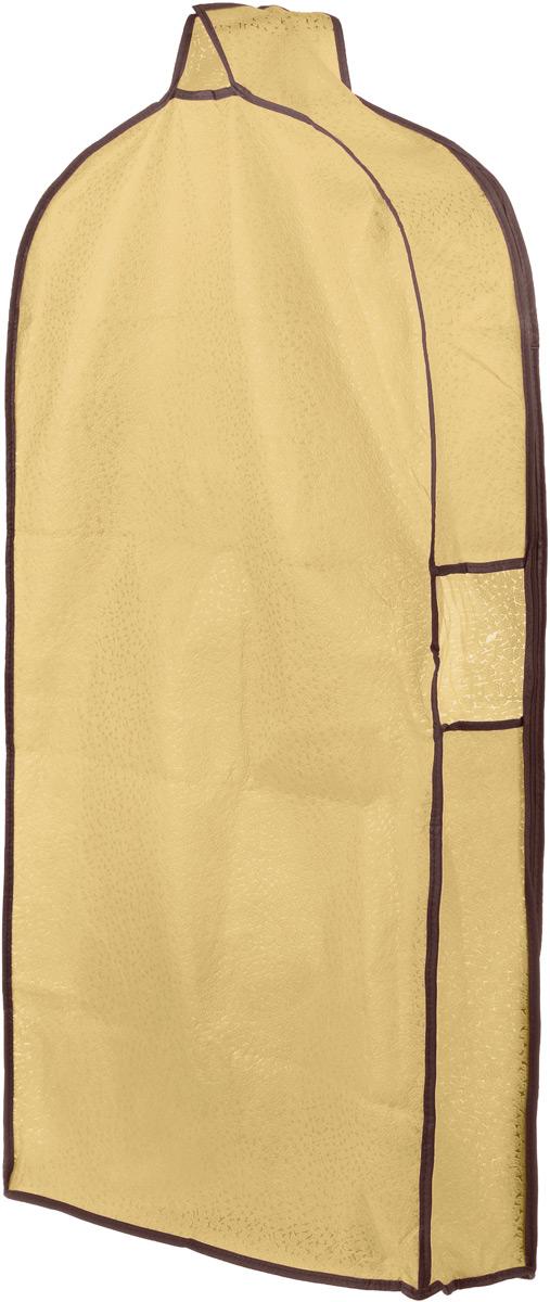 Чехол для одежды El Casa Звезды, подвесной, с прозрачной вставкой, цвет: светло-бежевый, 112,5 х 57 х 17 см1004900000360Подвесной чехол для одежды El Casa Звезды на застежке-молнии выполнен из высококачественного нетканого материала. Чехол снабжен прозрачной вставкой из ПВХ, что позволяет легко просматривать содержимое. Изделие подходит для длительного хранения вещей.Чехол обеспечит вашей одежде надежную защиту от влажности, повреждений и грязи при транспортировке, от запыления при хранении и проникновения моли. Чехол обладает водоотталкивающими свойствами, а также позволяет воздуху свободно поступать внутрь вещей, обеспечивая их кондиционирование. Это особенно важно при хранении кожаных и меховых изделий.Чехол для одежды El Casa Звезды создаст уютную атмосферу в женском гардеробе. Лаконичный дизайн придется по вкусу ценительницам эстетичного хранения и сделают вашу гардеробную изысканной и невероятно стильной.Размер чехла (в собранном виде): 112,5 х 57 х 17 см.