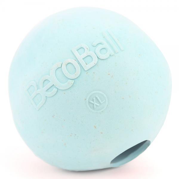 Игрушка для собак Beco Мяч, цвет: голубой, размер XL, 8,5 см, 500 г13307Игрушки изготовлены из нового революционного экоматериала, состоящего из шелухи риса и каучука. Игрушки нетоксичные, экологически чистые и абсолютно безопасные для собак