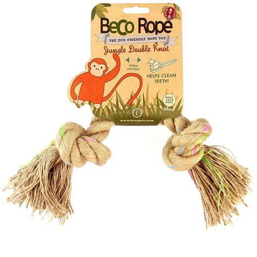 Игрушка для собак Beco Двойной узел. Джунгли, размер L7001Игрушки изготовлены из экологически чистых материалов - 100% хлопка и натуральных компонентов, при этом они твёрдые и прочные.