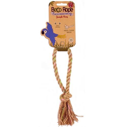 Игрушка для собак BecoThings Кольцо. Джунгли. Размер M16211/625596_зеленыйИгрушка BecoThings Кольцо. Джунгли, изготовленная из экологически чистых материалов - 100% хлопка и натуральных компонентов, понравится тем собакам, которые любят носить игрушки в зубах, это отличная замена косточке.Размер: M.