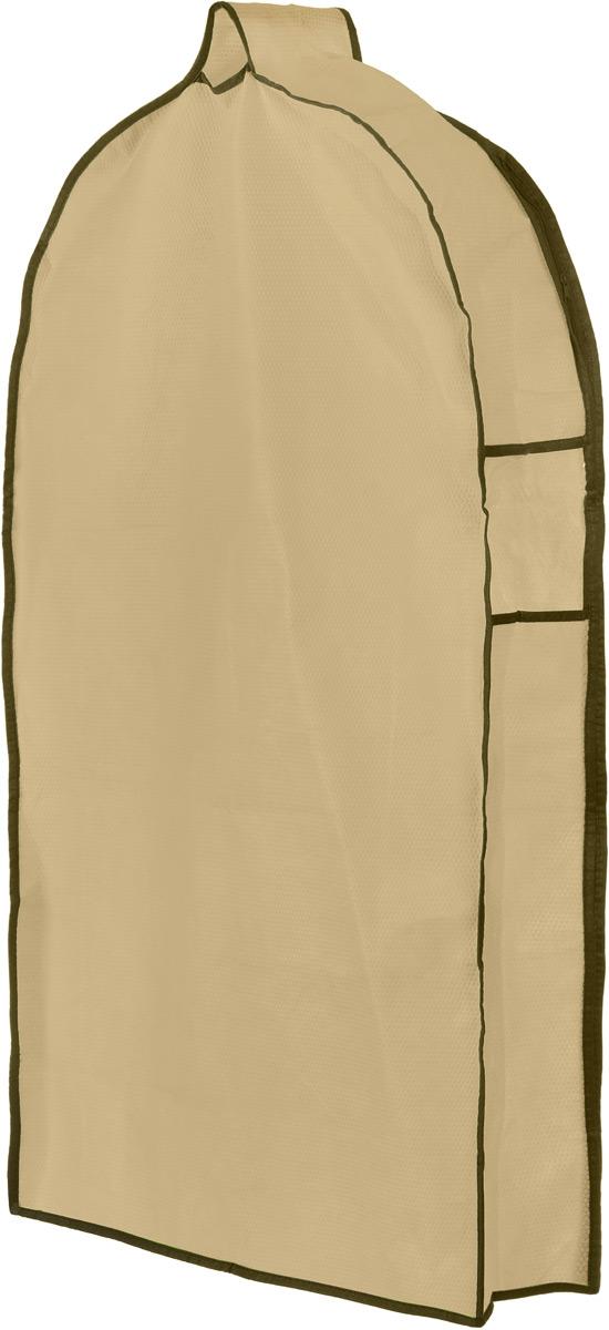 Чехол для одежды El Casa Соты, подвесной, с прозрачной вставкой, цвет: бежевый, 92,5 х 57 х 17 см1004900000360Подвесной чехол для одежды El Casa Соты на застежке-молнии выполнен из высококачественного нетканого материала. Чехол снабжен прозрачной вставкой из ПВХ, что позволяет легко просматривать содержимое. Изделие подходит для длительного хранения вещей.Чехол обеспечит вашей одежде надежную защиту от влажности, повреждений и грязи при транспортировке, от запыления при хранении и проникновения моли. Чехол обладает водоотталкивающими свойствами, а также позволяет воздуху свободно поступать внутрь вещей, обеспечивая их кондиционирование. Это особенно важно при хранении кожаных и меховых изделий.Чехол для одежды El Casa Соты создаст уютную атмосферу в женском гардеробе. Лаконичный дизайн придется по вкусу ценительницам эстетичного хранения и сделают вашу гардеробную изысканной и невероятно стильной.Размер чехла (в собранном виде): 92,5 х 57 х 17 см.
