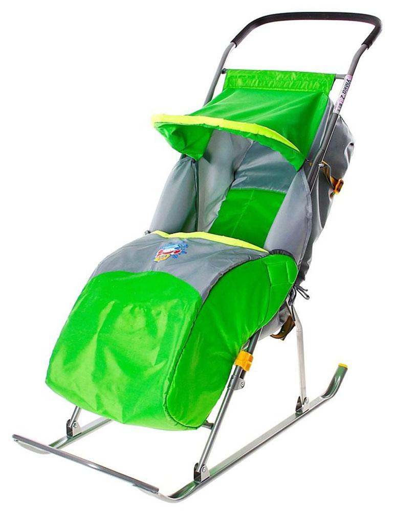 """Санки-коляска """"Умка 2"""" предназначены для перевозки детей от 1 года до 4 лет в сидячем положении. Перевозка допускается по плотному снегу или льду при температуре воздуха до -25°С. Имеют крепкую сварную конструкцию из стальных труб и мягкий чехол со светоотражающей окантовкой для безопасности детей в вечернее время. Каркас покрыт порошковой эмалью, которая устойчива к низким температурам. Санки-коляска """"Умка 2"""" позволяют осуществлять плавную регулировку угла наклона спинки сиденья. Козырек складывается; предусмотрены ремень безопасности и чехол для ног. Длина в рабочем положении: 105 см; Ширина посадочного места: 36 см; Ширина по полозьям: 40,4 см; Ширина полозьев: 3 см; Расстояние от опорной поверхности до ручки в рабочем положении: 96 см; Расстояние от опорной поверхности до сиденья в рабочем положении: 29 см; Размер в сложенном виде: 110 см x 40,4 см x 18 см; Масса: 4,8 кг. В комплект входит паспорт с руководством..."""
