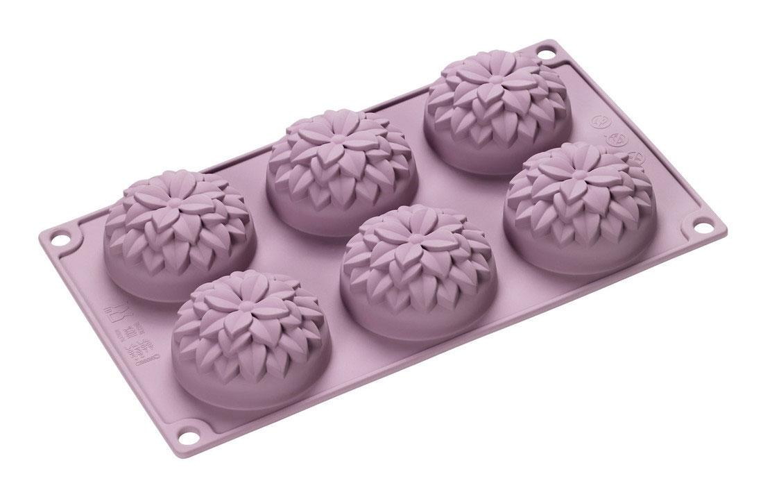 Форма для выпечки Lurch Dahlie, силиконовая, 6 ячеек391602Форма для выпечки Lurch Dahlie изготовлена из высококачественного силикона и представляет собой 6 ячеек в виде бутонов. Изделие не требуют смазывания и выдерживают диапазон температур от -40 до +240°C. Срок службы - 15 лет. Очень удобно и быстро моется.Порадуйте себя и своих близких качественным и функциональным подарком.Можно мыть в посудомоечной машине. Размер формы: 33 х 17,8 х 3,5 см.