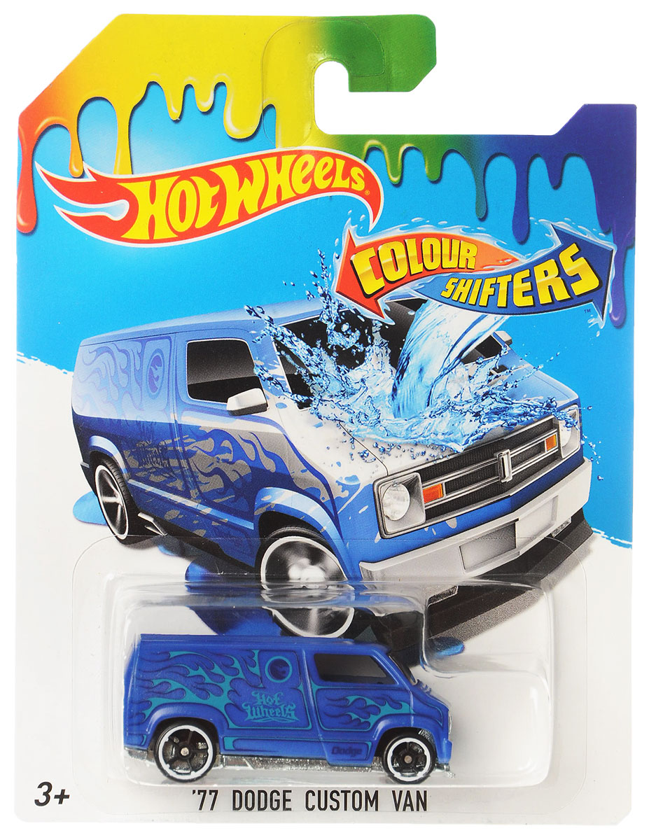 Hot Wheels Color Shifters Машинка 77 Dodge Custom Van hot wheels машинки меняющие цвет color shifters fire eater