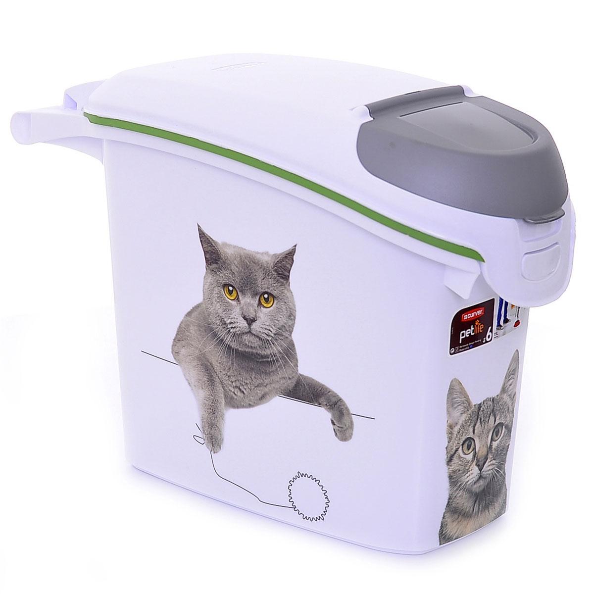 Контейнер для корма Curver PetLife Сладкие котята, на 6 кг, 15 л0120710Контейнер для корма Сладкие котятана 6кг/15л, 23*50*36см (201782) | | 1.18kg | Curver PetLife| 201782(три кота)