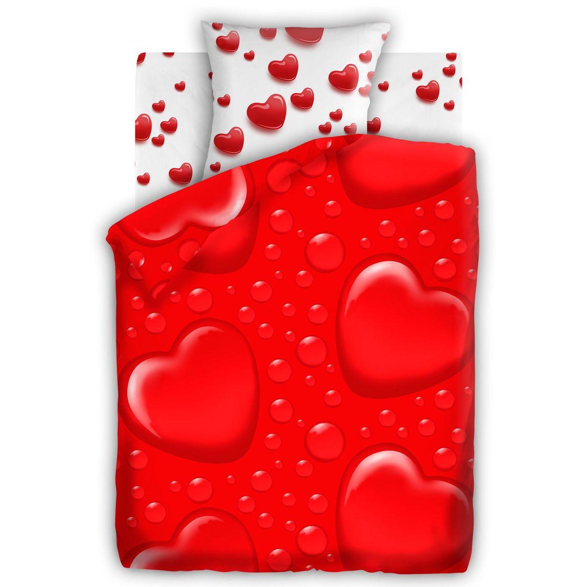 Комплект белья For YouСердца, 1,5 спальное, наволочки 70 х 70, цвет: красный. 284379CA-3505Постельное белье торговой марки «Любимый дом» - это идеальное сочетание доступной цены и высокого качества продукции. Серия «Любимый дом 3D» выполнена в технике объемного трехмерного изображения: объемные рисунки очень яркие, насыщенные и реалистичные. Коллекция выполнена из традиционной отечественной бязи с высоким показателем износостойкости: такое постельное белье очень прочное и долговечное, не деформируется при стирках и прослужит долгие годы.