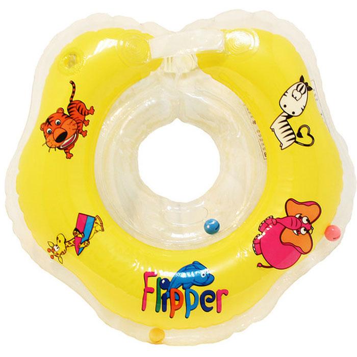 Круг на шею для купания Roxy-Kids  Flipper , цвет: желтый - Все для купания