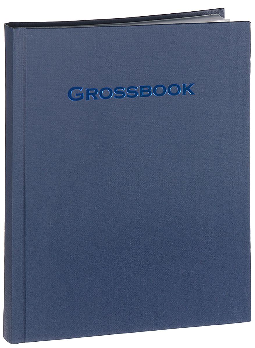 Erich Krause Книга для записей Grossbook 120 листов цвет серо-синий1278090Книга для записей Erich Krause Grossbook выполнена в твердой обложке из картона с фактурным покрытием серо-синего цвета и оформлена тиснением в виде надписи Grossbook.Внутренний блок содержит 120 листов белой офсетной бумаги в линейку. Атласное ляссе делает поиск нужной страницы гораздо быстрее и удобнее.