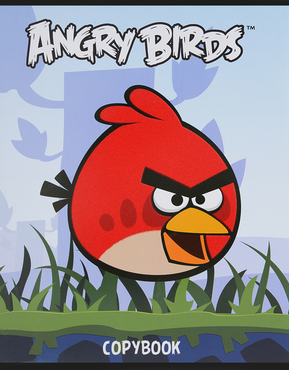 Hatber Тетрадь Angry Birds 48 листов в клетку цвет голубой100Ткм5B1сп_10808Тетрадь Hatber Angry Birds отлично подойдет для занятий школьнику или студенту.Обложка, выполненная из плотного картона, позволит сохранить тетрадь в аккуратном состоянии на протяжении всего времени использования. Изделие оформлено бархатистым изображением злой птички.Внутренний блок тетради, соединенный скрепками, состоит из 48 листов белой бумаги в голубую клетку с полями.