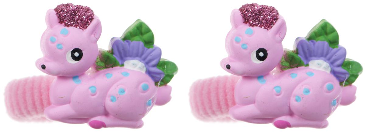 Babys Joy Резинка для волос Олень цвет розовый 2 штFS-00897Резинка для волос Babys Joy Олень станет отличным дополнением к прическе вашей юной модницы. Резинка украшена пластиковой фигуркой милого маленького оленя. Резинка для волос Babys Joy надежно зафиксирует непослушные локоны и подчеркнет красоту прически вашей маленькой принцессы. В упаковке 2 резинки.
