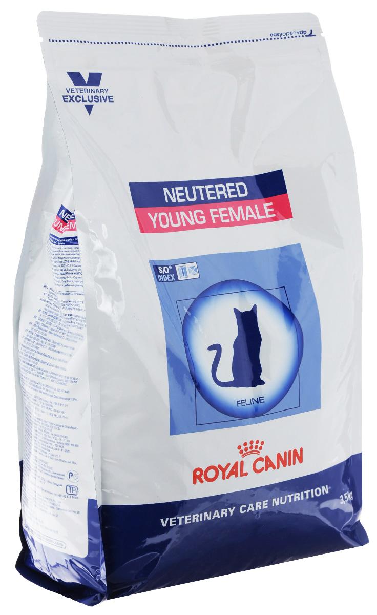 Корм сухой Royal Canin Young Female для стерилизованных кошек с момента операции до 7 лет, 3,5 кг005330Royal Canin Young Female - полнорационный сухой корм для стерилизованных кошек с повышенной чувствительностью кожи и шерсти.Оптимальный вес: - обогащенная белками формула способствует лучшему поддержанию мышечного тонуса по сравнению с обычным режимом питания, повышению вкусовых качеств корма. При одном и том же уровне метаболизма белки дают на 30% меньше чистой энергии, чем углеводы. L-карнитин улучшает транспорт жирных кислот в митохондрии.Разбавление мочи:- увеличение объема мочи одновременно снижает содержание в ней минеральных веществ, из которых формируются струвитные и оксалатные кристаллы. Таким образом, создаются условия, неблагоприятные для образования камней в мочевыводящих путях.Барьерная функция кожи:- комплекс, состоящий из ниацина, инозита, холина, гистидина и пантотеновой кислоты, уменьшает потерю жидкости через кожу и усиливает ее барьерную функцию. S/O Index :Знак S/O Index на упаковке означает, что диета предназначена для создания в мочевыделительной системе среды, неблагоприятной для образования кристаллов оксалата кальция. Состав: дегидратированные белки животного происхождения (птица), кукуруза, рис, пшеничная клейковина, кукурузная клейковина, гидролизат, белков животного происхождения, растительная клетчатка, свекольный жом, минеральные вещества, рыбий жир, соевое масло, фруктоолигосахариды, экстракт бархатцев прямостоячих (источник лютеина). Добавки (в 1 кг): витамин A - 20500 ME, витамин D3 - 700 ME, железо - 46 мг, йод - 4,6 мг, марганец - 60 мг, цинк - 179 мг, сeлeн - 0,08 мг.Содержание питательных веществ: белки - 37%, жиры - 10%, минеральные вещества - 8,4%, клетчатка пищевая - 4,3%, медь - 15 мг/кг. Товар сертифицирован.