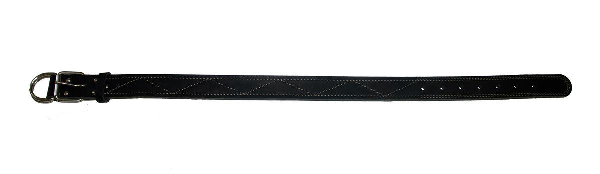 Ошейник Аркон Стандарт, цвет: черный, ширина 3,5 см, длина 77 см0120710Ошейник Аркон Стандарт изготовлен из кожи, устойчивой к влажности и перепадам температур. Клеевой слой, сверхпрочные нити, крепкие металлические элементы делают ошейник надежными и долговечными.Изделие отличается высоким качеством, удобством и универсальностью.Размер ошейника регулируется при помощи пряжки, зафиксированной на одном из 7 отверстий. Минимальный обхват шеи: 54 см. Максимальный обхват шеи: 71 см. Ширина: 3,5 см.