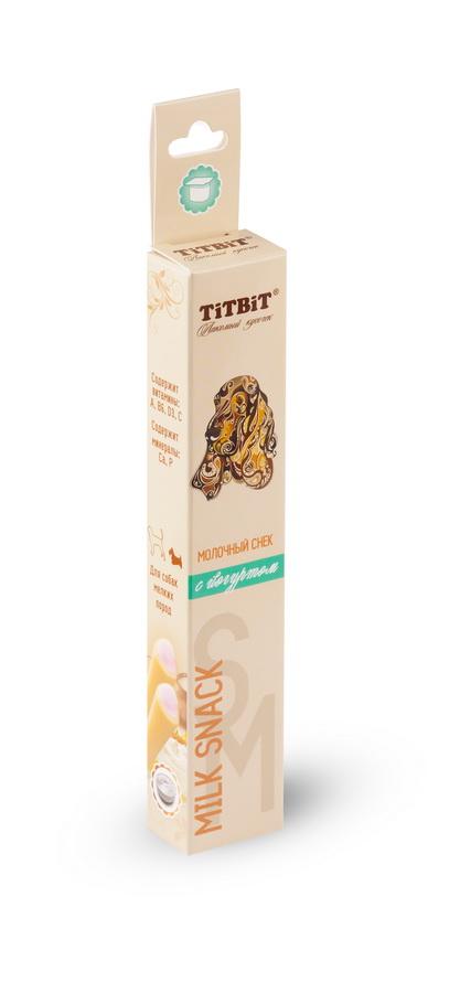 Лакомство для мелких собак Titbit, молочный снек с йогуртом0120710Молочный снек с йогуртом - это вкусное и полезное лакомство для собак. Натуральная молочная начинка придает снеку непревзойденный вкус и аромат, а благодаря специально разработанной текстуре, снек эффективно удаляет мягкий зубной налет.Состав: Рис, йогурт сублимированный, клетчатка, лецитин, минеральный комплекс, натуральные ароматизаторы, натуральные красители, витамины А, В6, D3, С