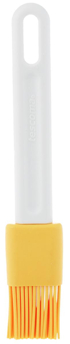 Кисть кондитерская Tescoma Delicia, цвет: желтый, белый, длина 18,5 смFS-91909Кондитерская кисть Tescoma Delicia станет вашим незаменимым помощником на кухне. Рабочая часть кисточки выполнена из силикона, ручка изготовлена из пластика. Силикон абсолютно безвреден для здоровья, не впитывает запахи, не оставляет пятен, легко моется. Изделие оснащено петелькой для подвешивания. Кисть Tescoma Delicia - практичный и необходимый подарок любой хозяйке!Длина кисти: 18,5 см.Длина ворсинок: 3 х 3 см.