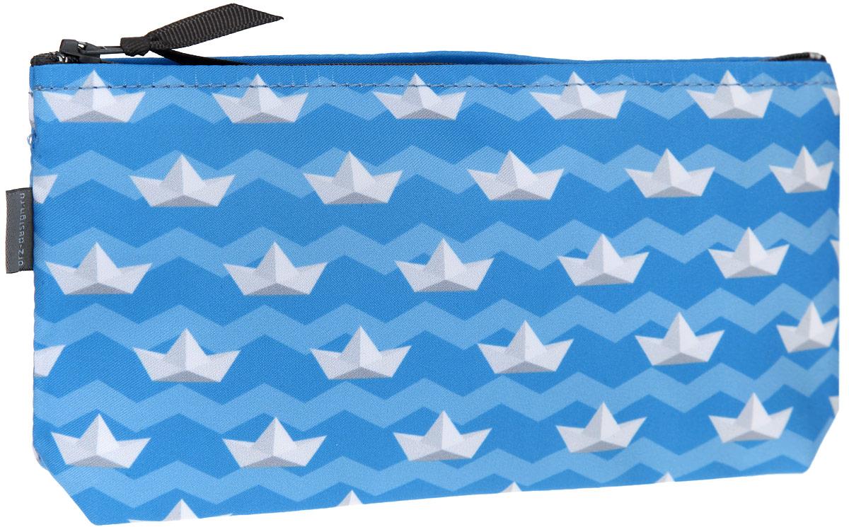 Косметичка ОРЗ-Дизайн Кораблики, цвет: голубой, белый. Орз-0348INT-06501Косметичка ОРЗ-Дизайн Кораблики выполнена из текстиля и оформлена оригинальным авторским принтом.Изделие содержит одно основное отделение, которое закрывается на застежку-молнию.Женская косметичка - это стильный и полезный аксессуар для любой современной модницы. В косметичке поместится вся необходимая косметика, а благодаря компактным размерам ее всегда можно носить с собой в сумочке.
