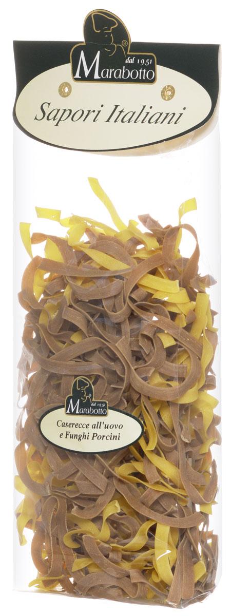 Marabotto Паста домашняя с яйцом и белыми грибами макароны, 250 г0120710В состав макарон Marabotto. Sapori Italiani включены популярные в Италии натуральные приправы. В этом заключена их уникальность. Характерные особенности приправ воплощены в удивительных цветах, форме, аромате и вкусе макарон. Уже в процессе варки вы можете почувствовать ароматы белых грибов, которые используются при их приготовлении. По вкусу, аромату и внешнему виду макароны Marabotto. Sapori Italiani невозможно перепутать ни с одним другим продуктом!