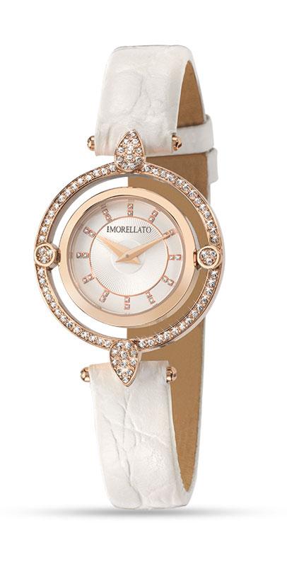 Часы наручные женские Morellato Venere, цвет: белый. R0151121505BM8434-58AEстразы из стекла, ПВД покрытие золотом