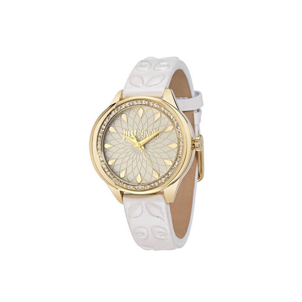 Часы наручные женские Just Cavalli JC01, цвет: белый. R7251571504BM8434-58AEстразы из стекла, ПВД покрытие золотом