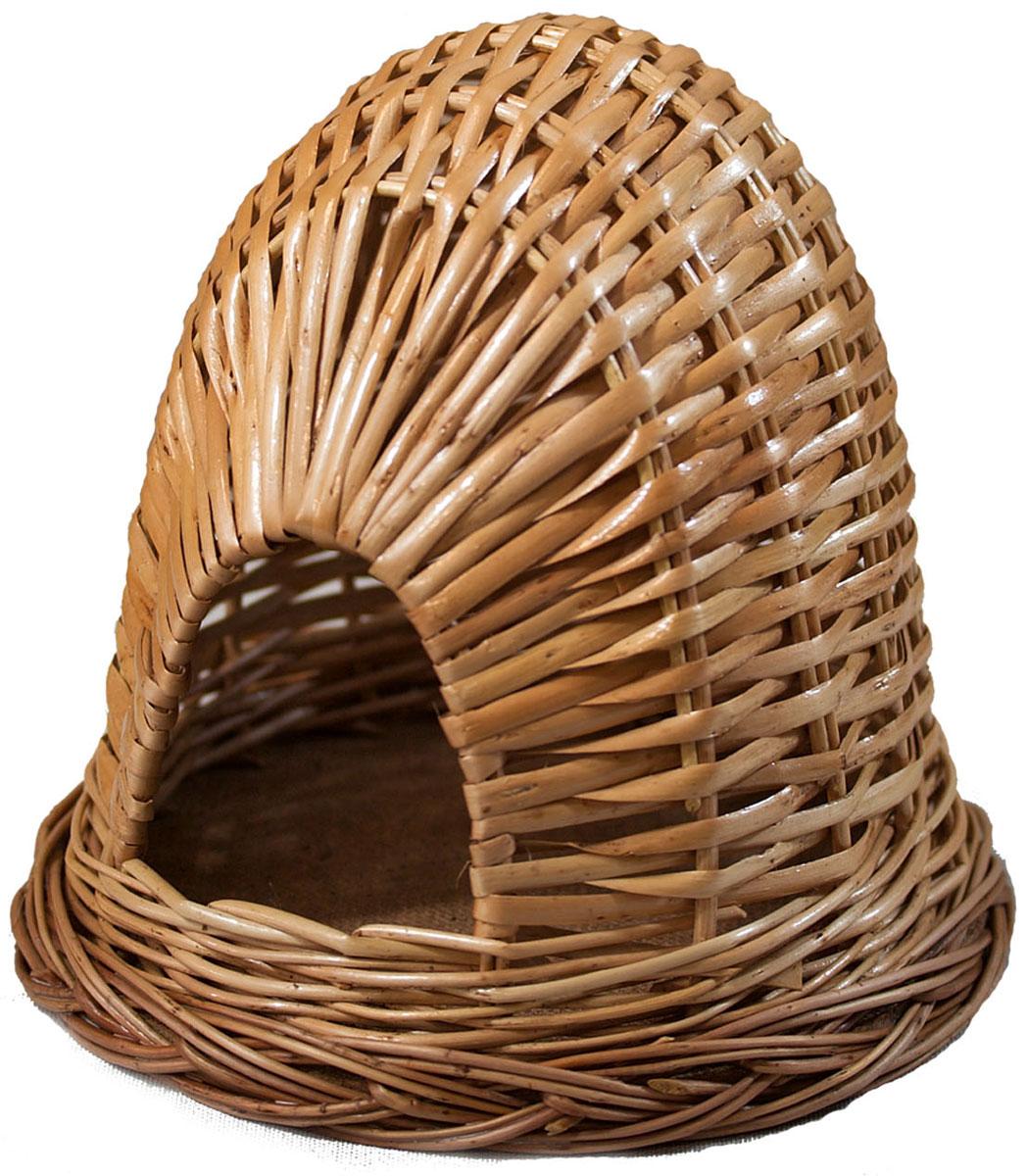 Домик для хомячка из лозы №1 15,5х15,5х14HP-150073-2Домик, плетеный из лозы. Ручная работа. Натуральный ивовый прут.