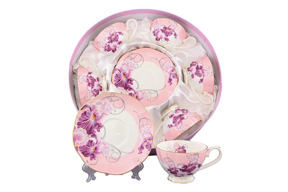 Набор чайный Elan Gallery Ирисы, 12 предметовVT-1520(SR)Чайный набор Elan Gallery Ирисы состоит из 6 чашек и 6 блюдец. Изделия, выполненные из высококачественной керамики, имеют элегантный дизайн и классическую круглую форму.Такой набор прекрасно подойдет как для повседневного использования, так и дляпраздников. Чайный набор Elan Gallery Ирисы - это не только яркий и полезный подарок для родных и близких, это также великолепное дизайнерское решение для вашей кухни или столовой. Не рекомендуется применять абразивные моющие средства.Не использовать в микроволновой печи.Объем чашки: 250 мл. Диаметр чашки (по верхнему краю): 10 см. Высота чашки: 6,7 см.Диаметр блюдца (по верхнему краю): 15,7 см.Высота блюдца: 2,2 см.