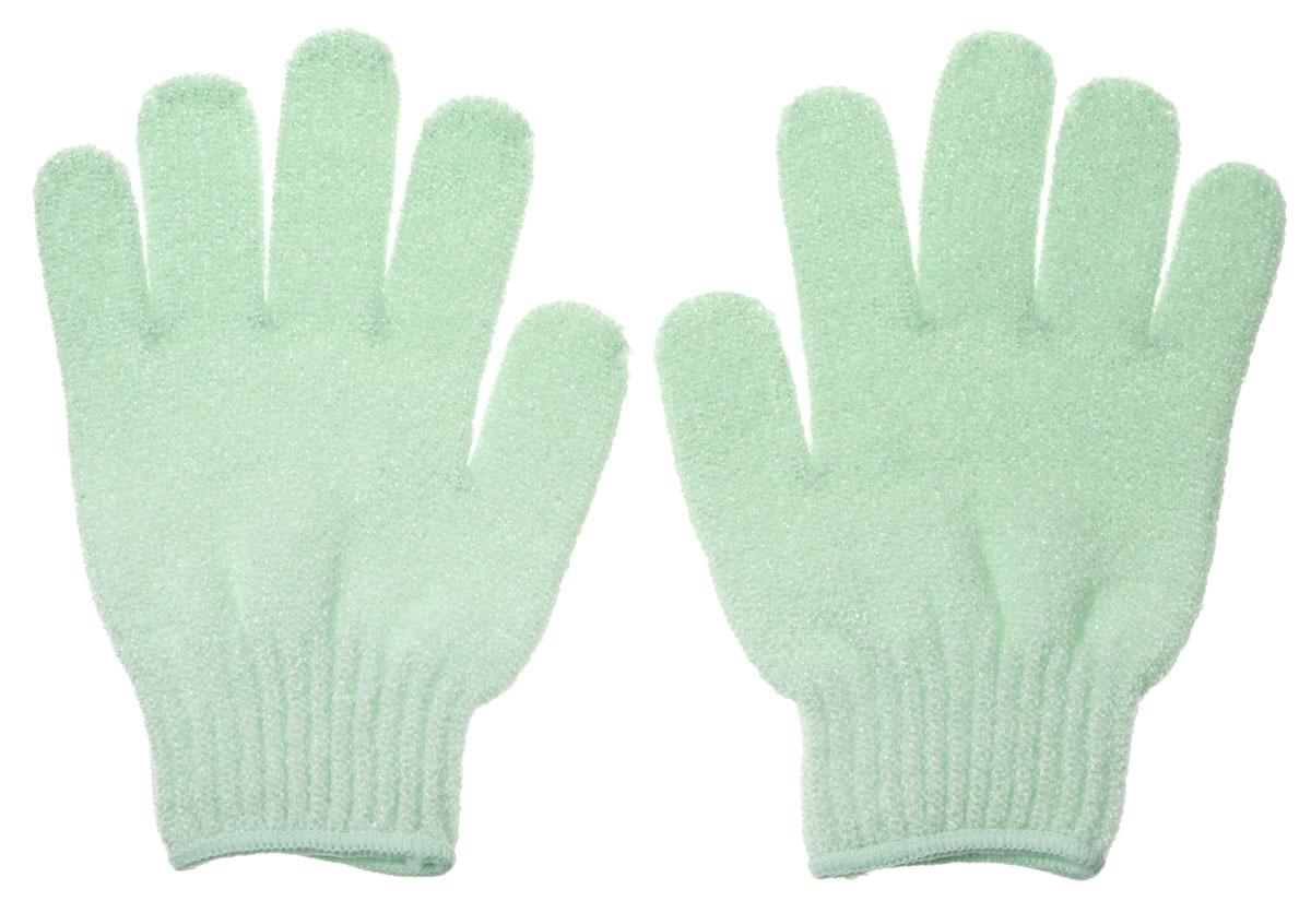 Riffi Перчатки для пилинга, цвет: салатовый кисточка riffi перфект для сухой пудры малая 3971