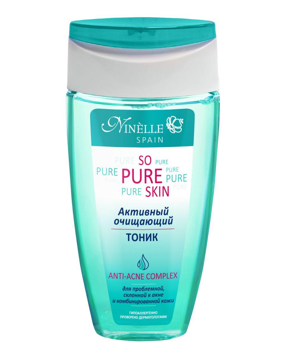 Ninelle So Pure Skin Активный очищающий тоник, 150 млFS-00897Тоник эффективно завершает процесс очищения кожи, устраняя остатки загрязнений, тонизируя и освежая кожу, не нарушая ее PH и степень увлажнения. При регулярном использовании заметно стягивает поры, матирует кожу и предотвращает появление черных точек. Кожа хорошо очищена и готова к следующим этапам ухода. Комплексное использование средств серии SO PURE SKIN гарантирует антибактериальный и противовоспалительный эффект, предотвращает появление новых воспалений, в значительной степени нормализует работу сальных желез, глубоко очищает, матирует кожу и сужает поры. Содержит Hydromanil complex, Asebiol complex, Масло чайного дерева, Д-пантенол.