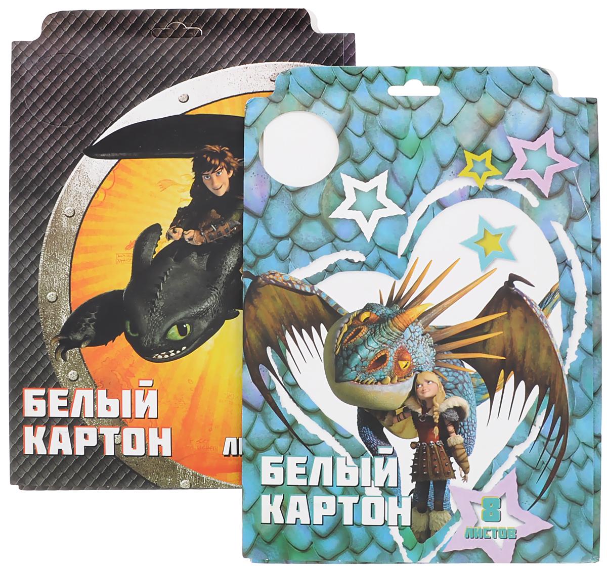 Action! Картон белый Dragons 8 листов 2 шт72523WDКартон мелованный белый Action! Dragons позволит вашему ребенку создавать всевозможные аппликации и поделки.Набор состоит из 8 листов картона белого цвета формата А4. Листы упакованы в оригинальную картонную папку, оформленную изображением героев Dragons. Создание поделок из картона поможет ребенку в развитии творческих способностей, кроме того, это увлекательный досуг.В комплекте 2 набора по 8 листов.