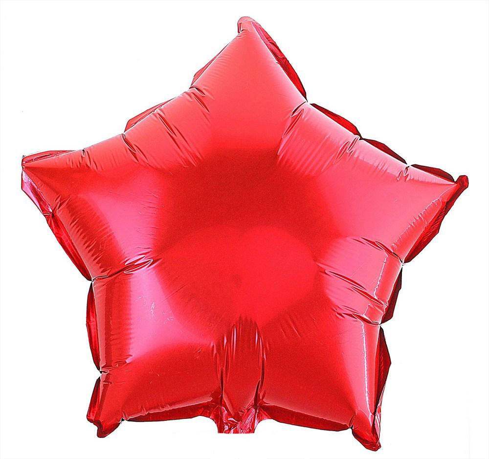 Action! Шар фольгированный Звезда цвет красный