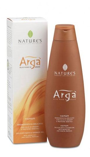 Гель для душа Natures Arga, деликатный, 200 мл071-1-0564Деликатный гель для душа Natures Arga эффективно очищает и освежает кожу, образуя обильную пену. Создан на основе поверхностно-активных веществ растительного происхождения, поддерживает гидролипидный баланс кожи, надолго сохраняя необходимый уровень влажности. Оставляет кожу мягкой и бархатистой, создает ощущение обновленности и уверенности в завтрашнем дне. При контакте с горячей водой, раскрывается ароматом цитрусовых, придавая коже свежесть. Подходит для самой чувствительной кожи.Характеристики:Объем: 200 мл.Производитель: Италия.Артикул:60150701.Товар сертифицирован.