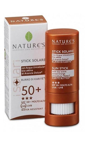 Защитный стик Nature's, SPF 50+, 8 мл vichy стик для чувствительных зон capital ideal soleil термальная вода 50 мл в подарок