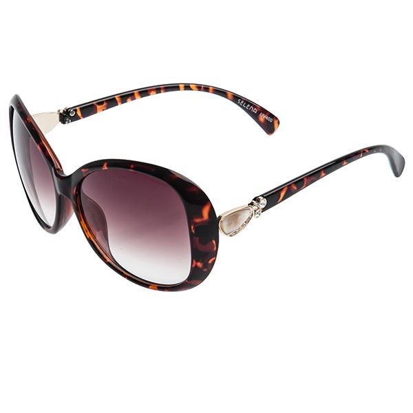 Очки солнцезащитные женские Selena, цвет: коричневый. 80024401INT-06501Солнцезащитные женские очки Selena выполнены из качественного материала. Линзы очков обеспечивают 100% защиту от ультрафиолетовых лучей.Такие очки защитят глаза от ультрафиолетовых лучей, подчеркнут вашу индивидуальность и сделают ваш образ завершенным.