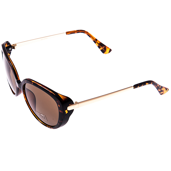 Солнцезащитные очки женские Selena, цвет: коричневый, золотой. 80029061INT-06501Солнцезащитные женские очки Selena выполнены из высококачественного пластика с элементами из металла, оправа оформлена принтом леопард.Линзы данных очков с высокоэффективным фильтром UV-400 Protection обеспечивают полную защиту от ультрафиолетовых лучей. Используемый пластик не искажает изображение, не подвержен нагреванию и вредному воздействию солнечных лучей.Такие очки защитят глаза от ультрафиолетовых лучей, подчеркнут вашу индивидуальность и сделают ваш образ завершенным.