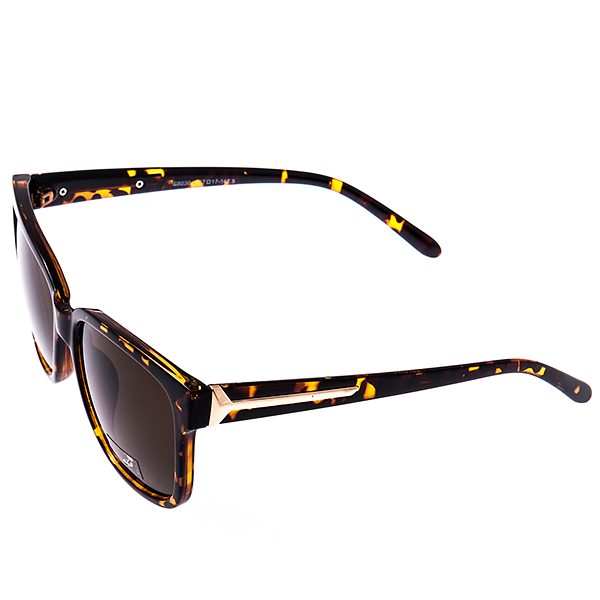 Солнцезащитные очки женские Selena, цвет: коричневый. 80029191INT-06501Солнцезащитные женские очки Selena выполнены из высококачественного пластика, оправа оформлена принтом леопард, а дужки дополнены декоративными элементами из металла.Линзы данных очков с высокоэффективным фильтром UV-400 Protetion обеспечивают полную защиту от ультрафиолетовых лучей. Используемый пластик не искажает изображение, не подвержен нагреванию и вредному воздействию солнечных лучей.Такие очки защитят глаза от ультрафиолетовых лучей, подчеркнут вашу индивидуальность и сделают ваш образ завершенным.