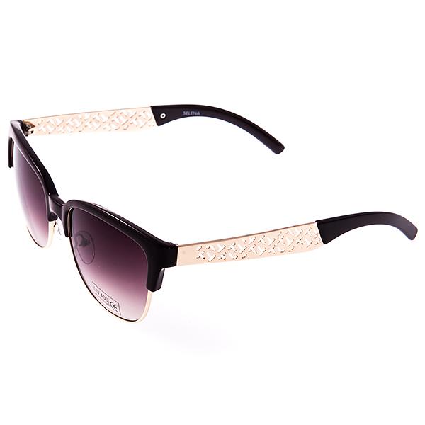 Солнцезащитные очки женские Selena, цвет: темно-коричневый. 80031231BM8434-58AEСолнцезащитные женские очки Selena выполнены из металла и высококачественного пластика, дужки оформлены декоративными элементами.Линзы данных очков с высокоэффективным фильтром UV-400 Protetion обеспечивают полную защиту от ультрафиолетовых лучей. Используемый пластик не искажает изображение, не подвержен нагреванию и вредному воздействию солнечных лучей.Такие очки защитят глаза от ультрафиолетовых лучей, подчеркнут вашу индивидуальность и сделают ваш образ завершенным.