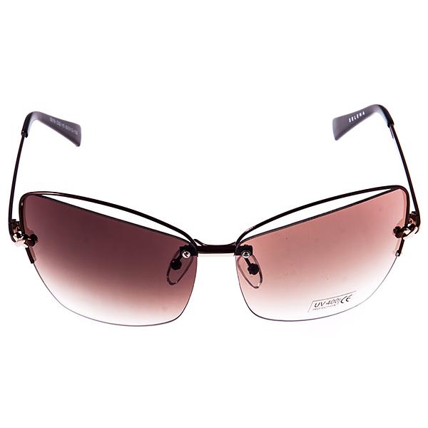 Солнцезащитные очки женские Selena, цвет: коричневый. 80032461BM8434-58AEСолнцезащитные женские очки Selena выполнены из металла с элементами из высококачественного пластика, дужки оформлены декоративными элементами.Линзы данных очков с высокоэффективным фильтром UV-400 Protection обеспечивают полную защиту от ультрафиолетовых лучей. Используемый пластик не искажает изображение, не подвержен нагреванию и вредному воздействию солнечных лучей.Такие очки защитят глаза от ультрафиолетовых лучей, подчеркнут вашу индивидуальность и сделают ваш образ завершенным.