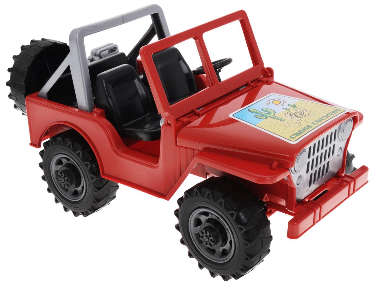 """Внедорожник """"Bruder"""" - мощный открытый внедорожник для юных любителей автомобильной техники. Модель выполнена с максимальной детализацией и обладает всем функционалом настоящей машины: лобовое стекло кабины опускается, капот открывается для доступа к двигателю, а руль вращается, управляя передними колесами. Сзади машины закреплены съемное запасное колесо и канистра для бензина. Большие пластиковые колеса обеспечивают машине отличную проходимость. Масштаб 1:16. Ваш маленький гонщик с удовольствием будет играть с такой машинкой, и придумывать различные истории."""