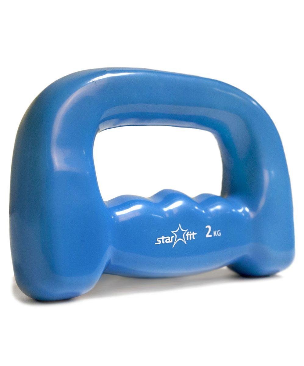 Гантель для бега Star Fit DB-103, виниловая, цвет: синий, 2 кгУТ-00007083Гантель для бега DB-103, изготовленная из стали и винила, имеет анатомическую форму. Ее очень удобно держать в руке во время пробежки. Закрытая конструкция гантели позволяет иногда ослаблять хват. Гантель приятная на ощупь, не холодная для ладоней. Изделие имеет необычный яркий дизайн. Используется в фитнесе, бодибилдинге, функциональном тренинге, лечебной физкультуре, беге и других спортивных дисциплинах.Вес: 2 кг.