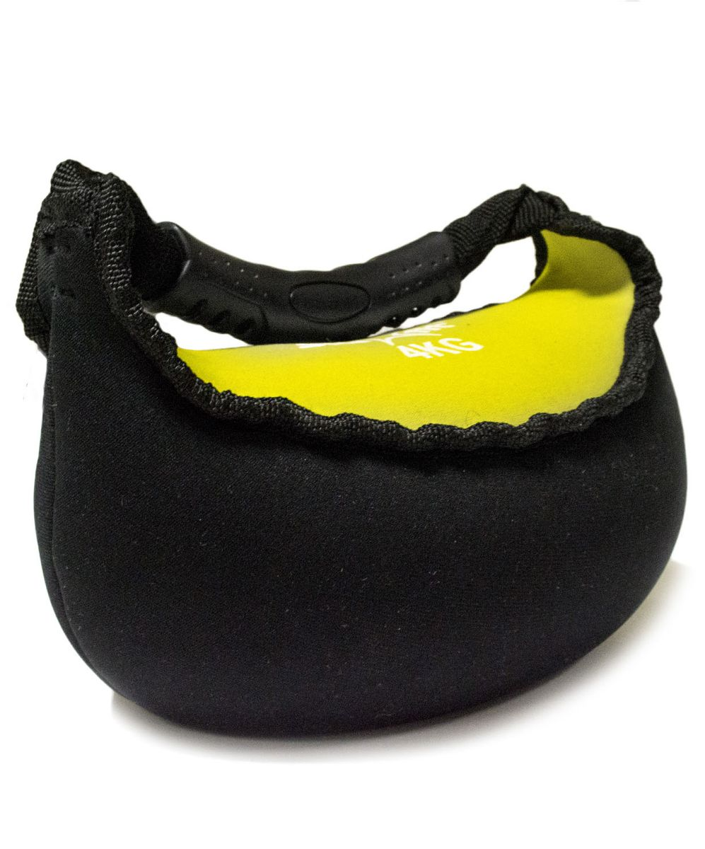 Гиря мягкая неопреновая  Starfit , цвет: черный, желтый, 4 кг - Оборудование для силовых тренировок